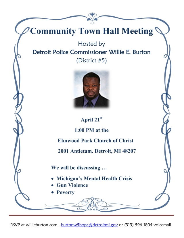 Community Town Hall Meeting. 4-21-2018. 1PM