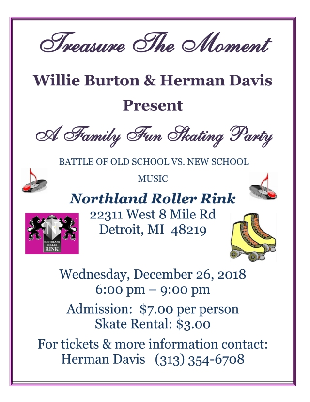 Full Sized Skating Party Flyer Image